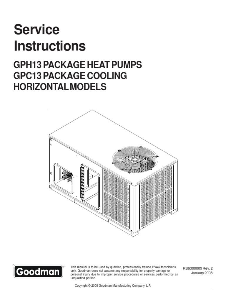 amana gph13 service manual installation