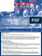 Pensioners' Parliament Programme 2013