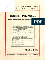 Institut d'étude des questions juives - Leurs noms... Petite philosophie des Patronymes Juifs