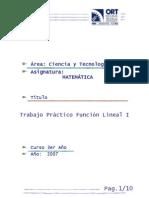 Función Lineal 1