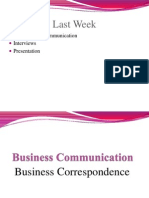Business Correspondence and Memo