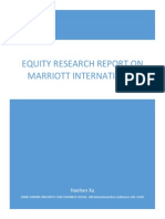 Marriott Equity Research Report