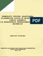 Normativ Cladiri Pt Persoane Cu Handicap NP 051-2001