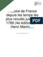 Histoire de France Henri Martin Tome 4