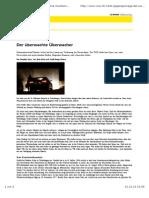 Der überwachte Überwacher | WOZ Die Wochenzeitung