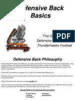 Defensive Back Manual