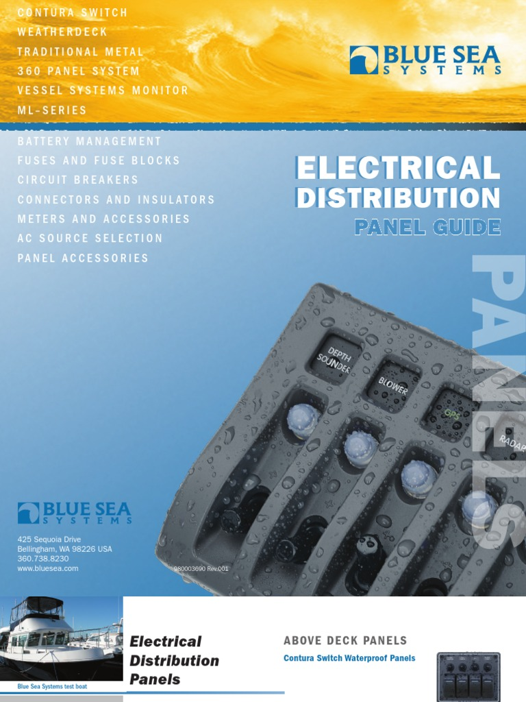 Electrical Distribution Panel Guide Fuse Switch Weatherdeckr 12v Dc Waterproof Circuit Breaker Gray 8
