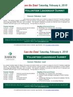 Save the Date - Volunteer Summit Version 2