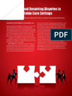 Identifying and Resolving Disputes in New Accountable Care Settings