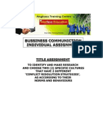 Business Communication Assignment 10