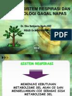 Fisiologi-sistim-respirasi Dan Patofisiologi Gagal Napas