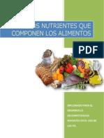 Nutrientes Que Componen Los Alimentos