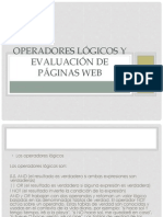 Operadores lógicos y evaluación de páginas web