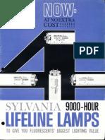Sylvania Fluorescent Lifeline Lamps Brochure 7-1962