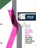 Sylvania Fluorescent Lifeline Slimline Lamps Brochure 1962