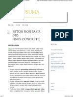 Beton Non Pasir (No Fines Concrete) Dwi Kusuma
