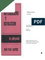 Sartre Jean Paul - Materialismo Y Revolucion