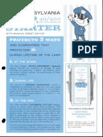 Sylvania Fluorescent Starters COP 40-400 Bulletin 1964