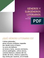 Géneros y subgéneros literarios