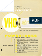 Sylvania Fluorescent VHO Powertubes Brochure 1959