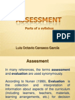 Assessment - Parts of a Syllabus -Octavio