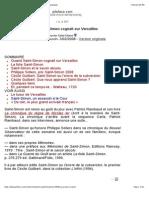 Quand Saint-Simon Cognait Sur Versailles (Version Imprimable)