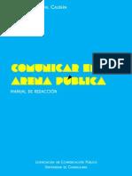 Comunicar en la arena pública