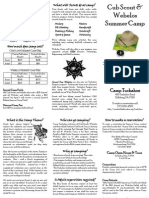 2014 Cub Scout & Webelos Summer Camp Brochure