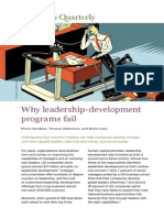 Why Leadership-Development Programs Fail