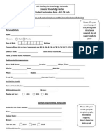 JKC Student Registration Form(BTech)2013-14