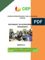 Módulo 2_ Didáctica General, Corrientes Pedagógicas y Psicología de la Educación