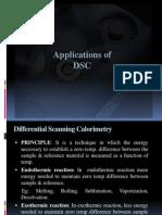 Applications of DSC