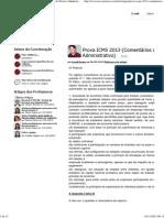 TEC Concursos - Prova ICMS 2013 (Comentários de Direito Administrativo) - Artigo pelo professor Cyonil Borges
