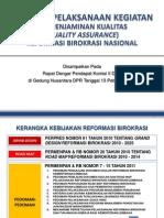 Quality Assurance Reformasi Birokrasi Nasional