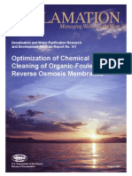 Report141 Optimization of Chemical Cleaning -Organic Fouled RO Membranes