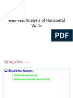 Well-Test Horizontal Well, Student Presentation Ppt
