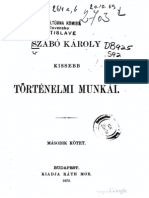 Szabó Károly kisebb történelmi munkái 2. kötet 1873.