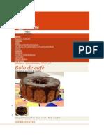 Bolo de Cafe