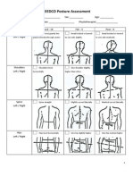 Range of Motion Evaluation Chart