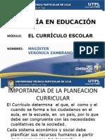 El Curriculo Escolar