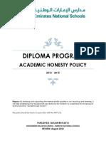ens mbz dp academic honesty policy 2013-2015