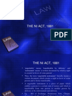 The NI Act, 1881
