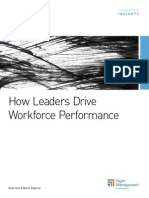 How Leaders Drive Workforce Performance