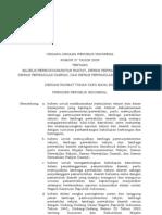 Undang-Undang Nomor 27 Tahun 2009 Tentang MPR, DPR, DPD dan DPRD