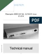 Fiber Optic Ieee c37.94 g.703 e1 Multiplexer Pdf2 133