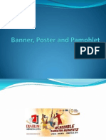 Banner, Poster and Pamphlet