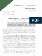 Hudecek Transliteracija i Transkripcija