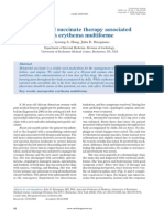 Metoprolol succinate therapy associated with erythema multiforme