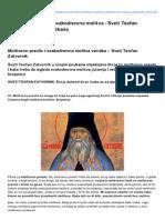 Bastabalkana.com-Molitveno Pravilo i Svakodnevna Molitva Sveti Teofan Zatvornik Bata Balkana