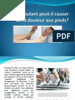 Le tapis roulant peut-il causer de la douleur aux pieds?